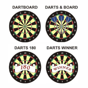 Darts pk of 5 25mm centres-